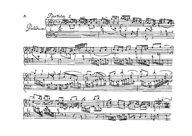 Prélude Partita 1 Bach-BWV825